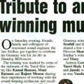 Tribute to an award winning music man - Sridhar Grammy